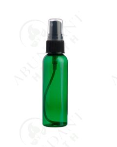 2 oz. Bottle: Green Plastic with Black Misting Spray Top *WHITE tops will be substituted if black is unavailable