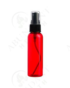 2 oz. Bottle: Red Plastic with Black Misting Spray Top *WHITE tops will be substituted if black is unavailable