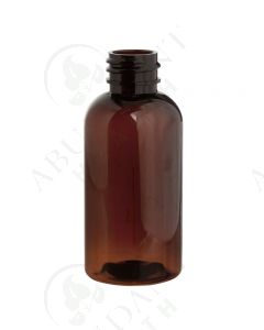 2 oz. Bottle: Amber PET Boston Round Plastic; 20-410 Neck Size