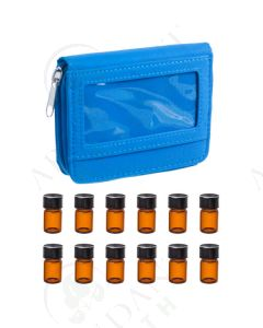 Sample Case: Sky Blue; Includes 12 Vials (5/8 Dram)
