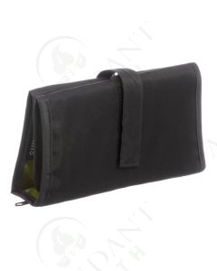 Folding Pill Wallet with Bags: Solid Gray with Green Lining