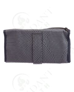Folding Pill Wallet with Bags: Gray with White Dots