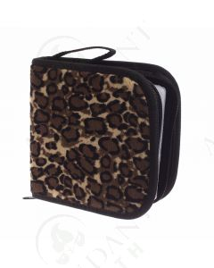 Small Essential Oil Case: Leopard Print (Holds 49 Sample Vials)