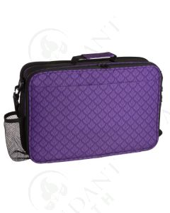 Aroma Ready Deluxe Foam Case: Purple Floral; Multi-size Bottles (Holds 79 Vials)