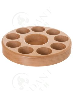 Beechwood Circular Essential Oil Caddy (Holds 9 Vials)