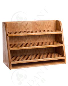 Large, 3-Shelf Storage and Display Rack: Finished Oak (Holds 151 Vials)