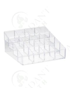4-Tier Display Riser: Clear Plastic (Holds 16 Vials)