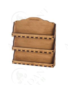 3-Shelf Wall Display: Natural Wood (Holds 24 Vials)