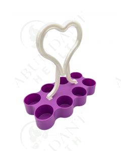 Purple Portable Caddy: 5 ml Vial (Holds 8 Vials)