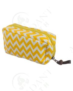 Yellow Chevron Travel Case: 15 ml (Holds 8 Vials)