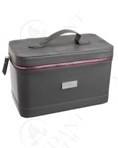 Luxury Train Case: Double Layer, Multi-size Bottles (Holds 73 Vials)