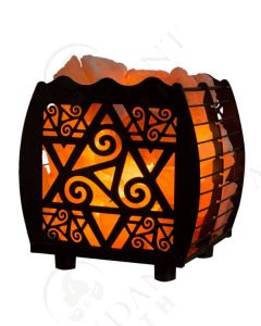 Himalayan Salt Lamp Basket: Star