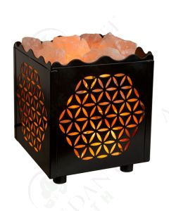 Himalayan Salt Lamp Basket: Cube Flower