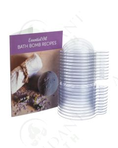 Essential Oil Bath Bomb Set: Recipe Card and Plastic Molds (10 Count)
