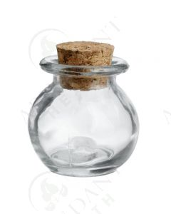 2 oz. Clear Glass Round Jar with Cork Stopper