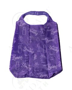 Reusable Shopping Bags: Purple and Green (Set of 3)