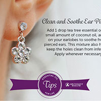 EO Tips for Life: Clean and Soothe Ear Piercings