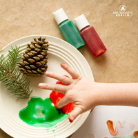 Essential Oil-Scented Finger Paints