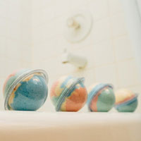 Rainbow Bath Bombs for Kids