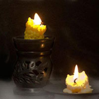 Spooky Beeswax Candles
